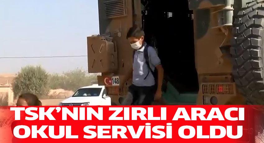 Mehmetçiğin mayına dayanıklı zırhlı aracı okul servisi oldu