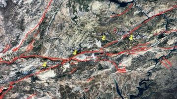 Prof. Dr. Naci Görür, Malatya depremi sonrası haritayı paylaşarak uyardı