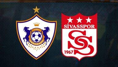 Sivasspor, bugün Karabağ karşısında