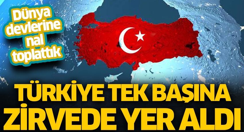 Dünya devlerine nal toplattık! Türkiye tek başına zirvede yer aldı