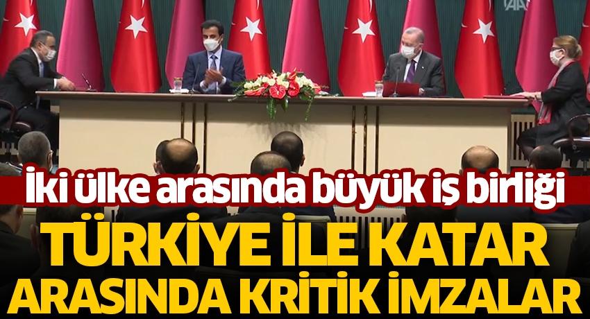 İki ülke arasında büyük iş birliği! Türkiye ile Katar arasında kritik imzalar