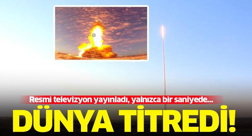 Resmi televizyon yayınladı, yalnızca bir saniyede… Dünya titredi