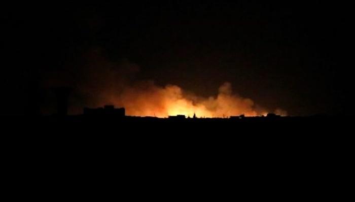 TSK topçuları Rakka'nın Ayn isa kentini şiddetli şekilde vuruyor