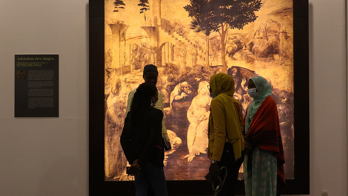 Da Vinci'nin başyapıtları 'Mona Lisa' ve 'Son akşam yemeği' Senegal'e geldi