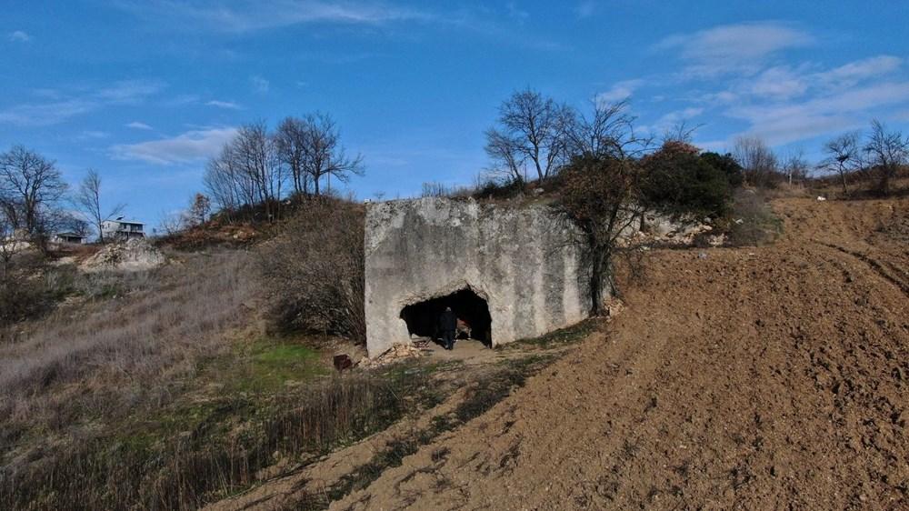 2 bin yıllık kaya mezarın, Romalı soylu bir aileye ait olduğu ortaya çıktı