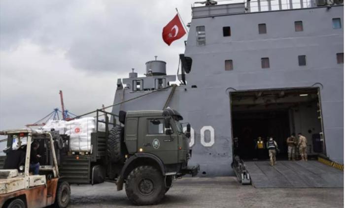 TSK o orduya 260 tondan fazla yardım yaptı