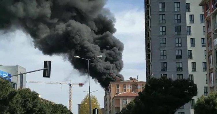 Bağcılar'da korkutan yangın: Mahsur kalan kişi 6. kattan atladı - Gündem  Haberleri