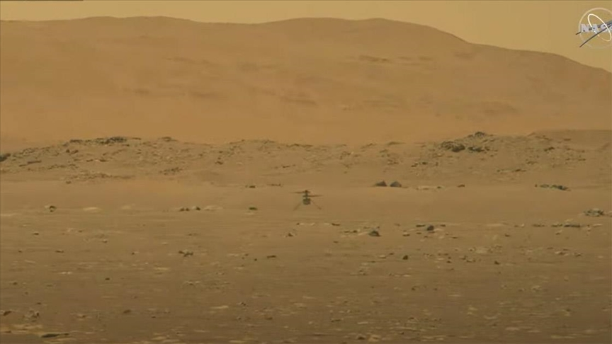 NASA, Mars'a Perseverance göreviyle gönderdiği mini helikopter Ingenuity'yi uçurdu