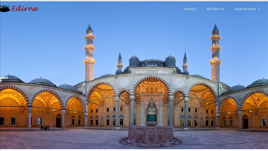 Eski payitaht Edirne ziyaretçilerini 'sanal gezinti'yle ağırlıyor