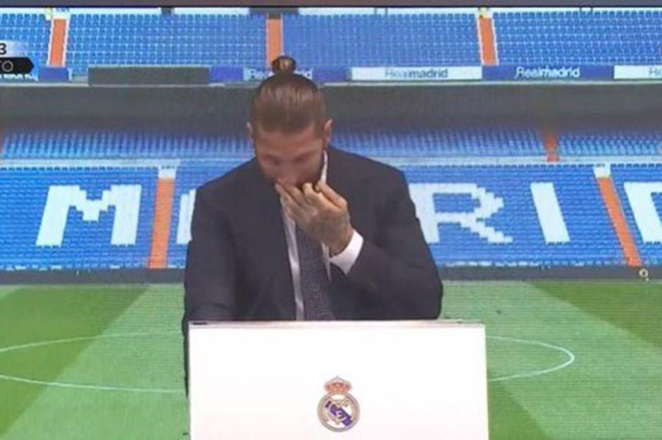 Ramos gözyaşlarıyla veda etti