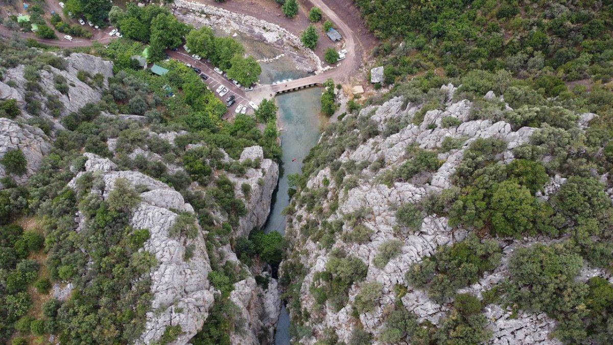 Kisecik Kanyonu görenleri hayran bırakıyor