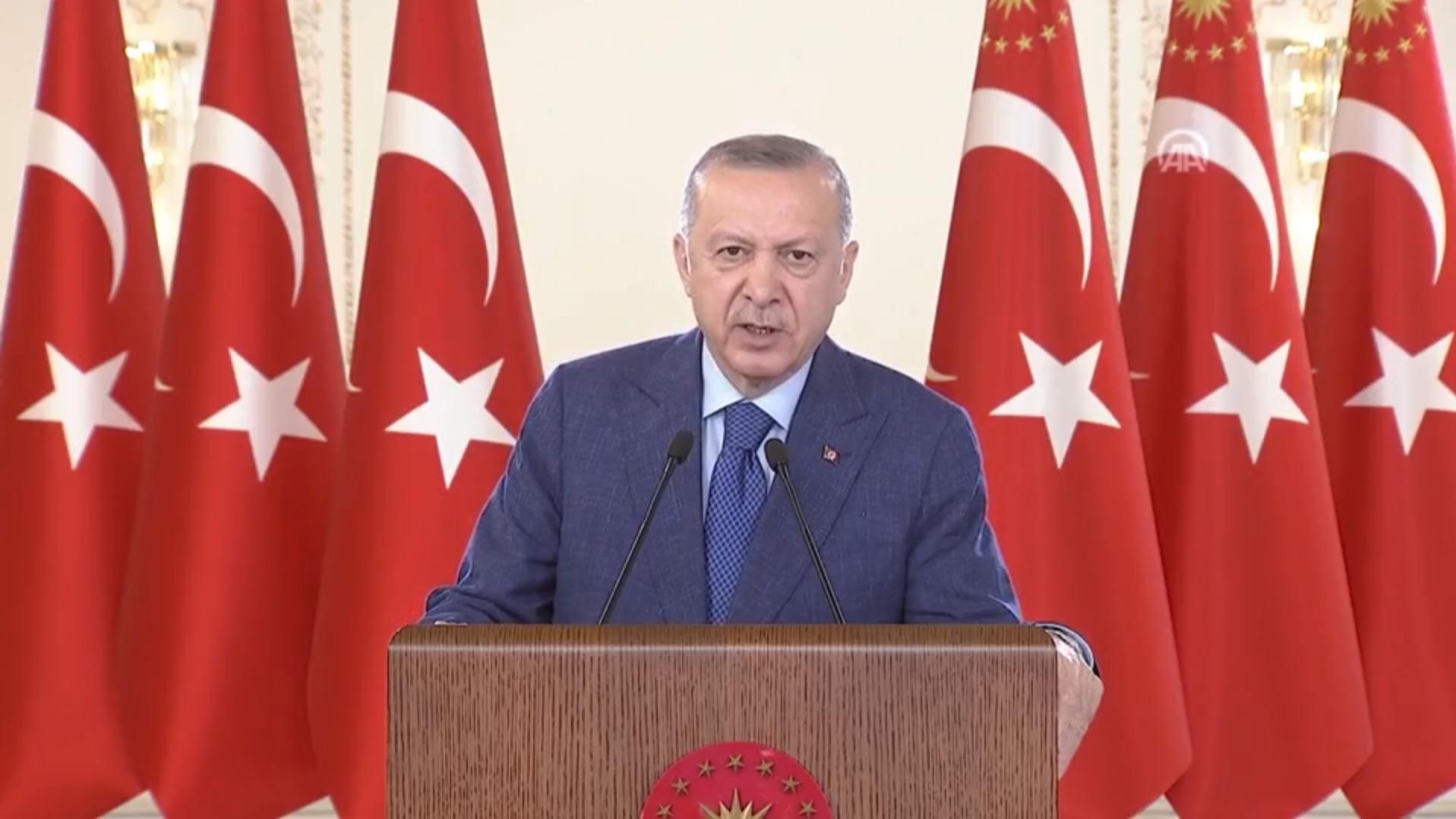 Video mesaj gönderen Cumhurbaşkanı Erdoğan'dan önemli açıklamalar
