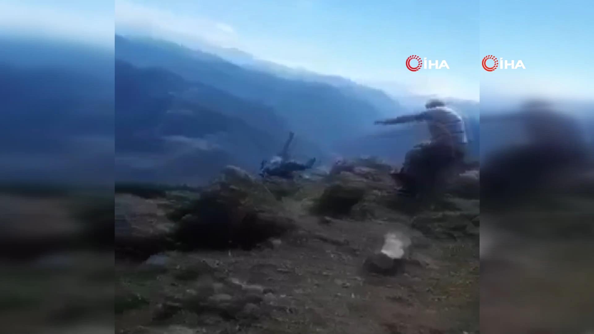 Dehşet anlarını damadı kaydetti! Ailesinin gözü önünde 70 metrelik uçurumdan düşerek can verdi