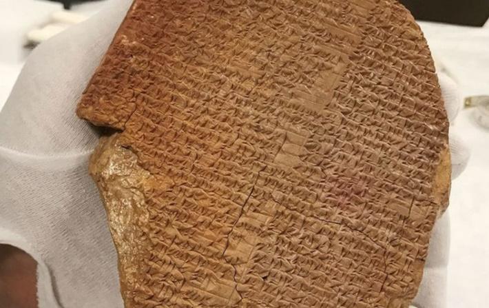 Gılgamış Destanı Rüya Tableti Mezopotamya'ya geliyor