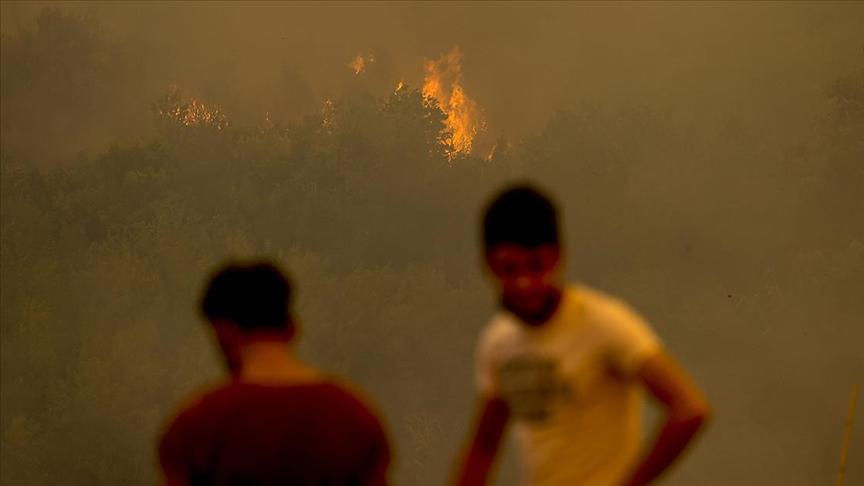 Manavgat'taki orman yangını söndürme çalışmaları devam ediyor
