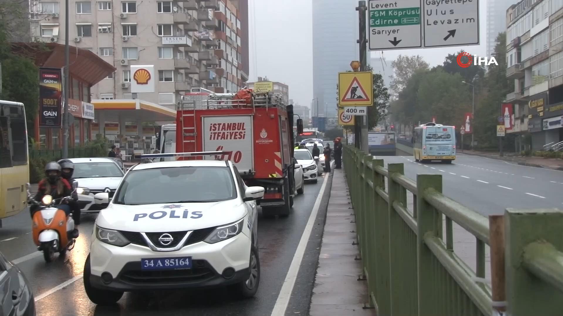 İstanbul'da milyonluk 'yağmur kazası'! Araçlar birbirine girdi