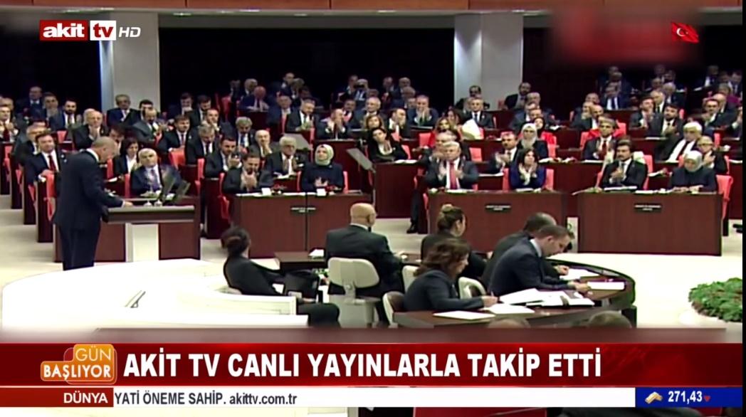 Meclis açılışını Akit TV canlı yayınlarla takip etti