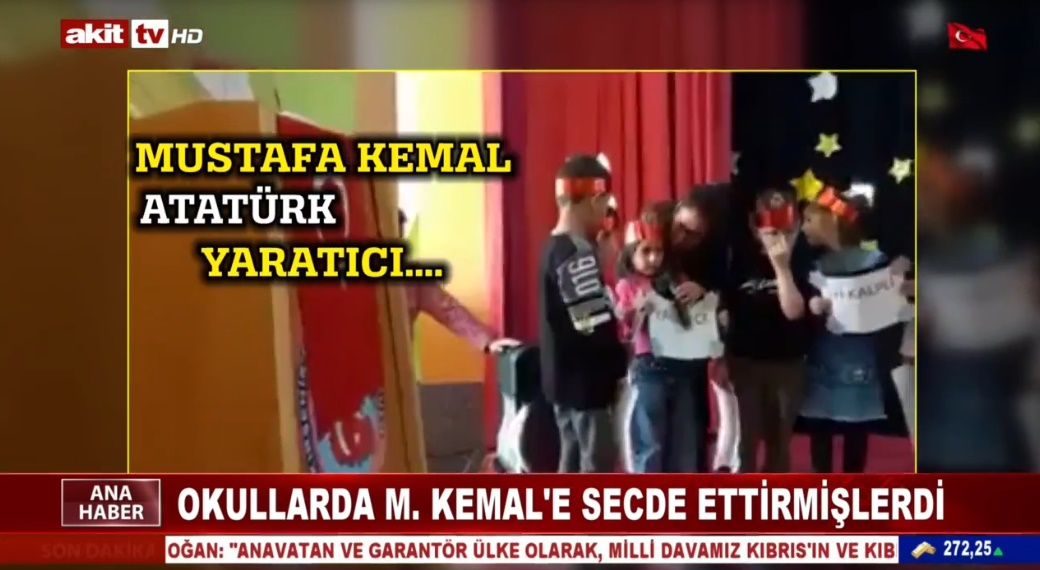 Okullarda M.Kemal'e secde ettirmişlerdi