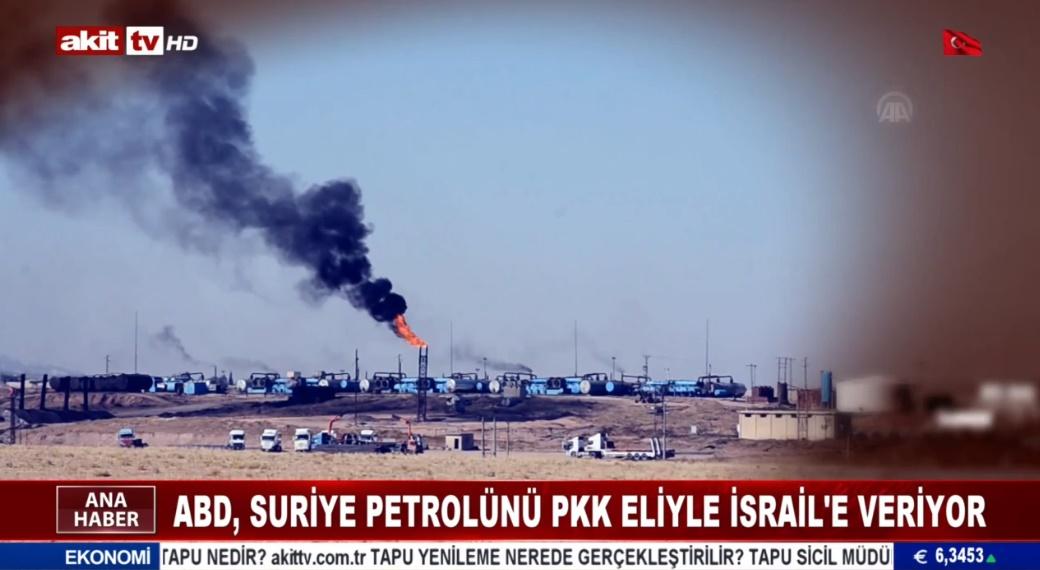 ABD, Suriye petrolünü PKK eliyle İsrail'e veriyor