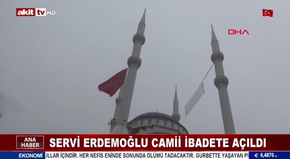 Servi Erdemoğlu Camii ibadete açıldı