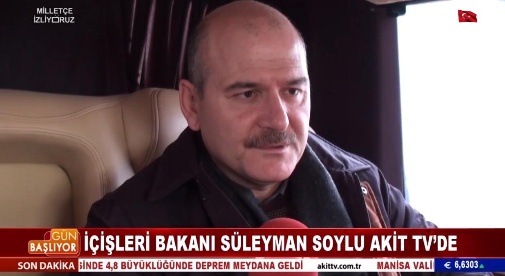 İçişleri Bakanı Süleyman Soylu ve Milli Eğitim Bakanı Ziya Selçuk Akit TV mikrofonlarına konuştu