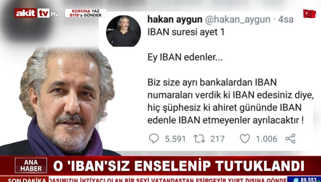 O IBAN'sız enselenip tutuklandı !