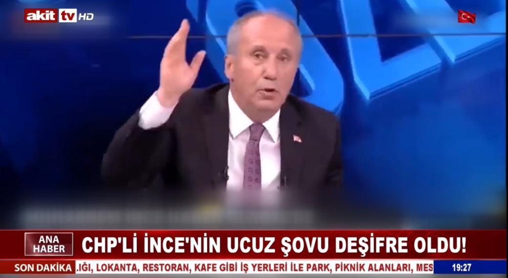 CHP'li İnce'nin ucuz şovu deşifre oldu !