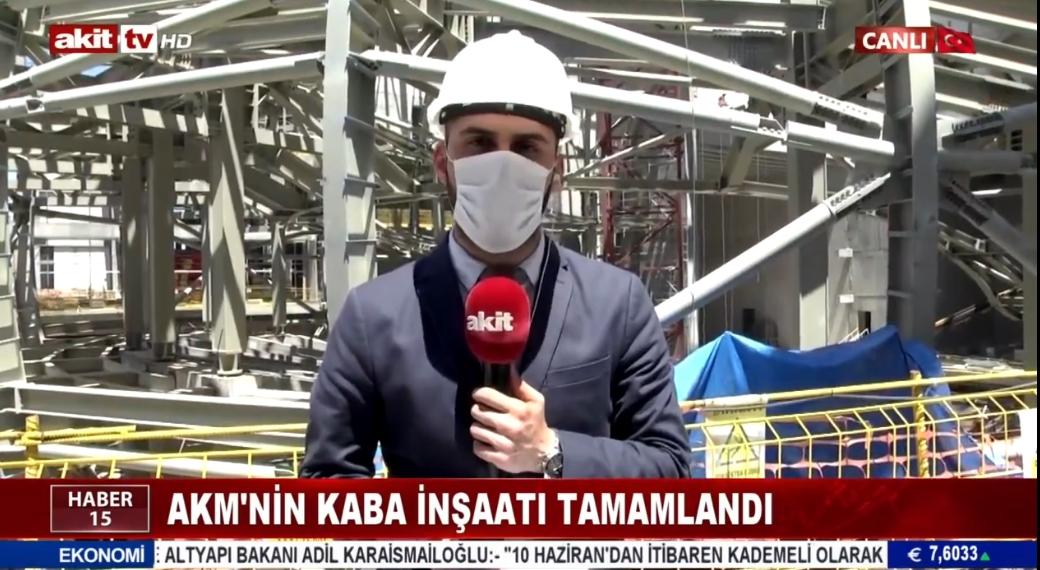 AKM'nin kaba inşaatı tamamlandı