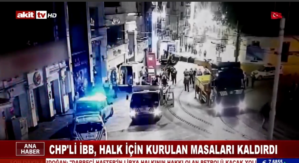 CHP'li İBB, halk için kurulan masaları kaldırdı