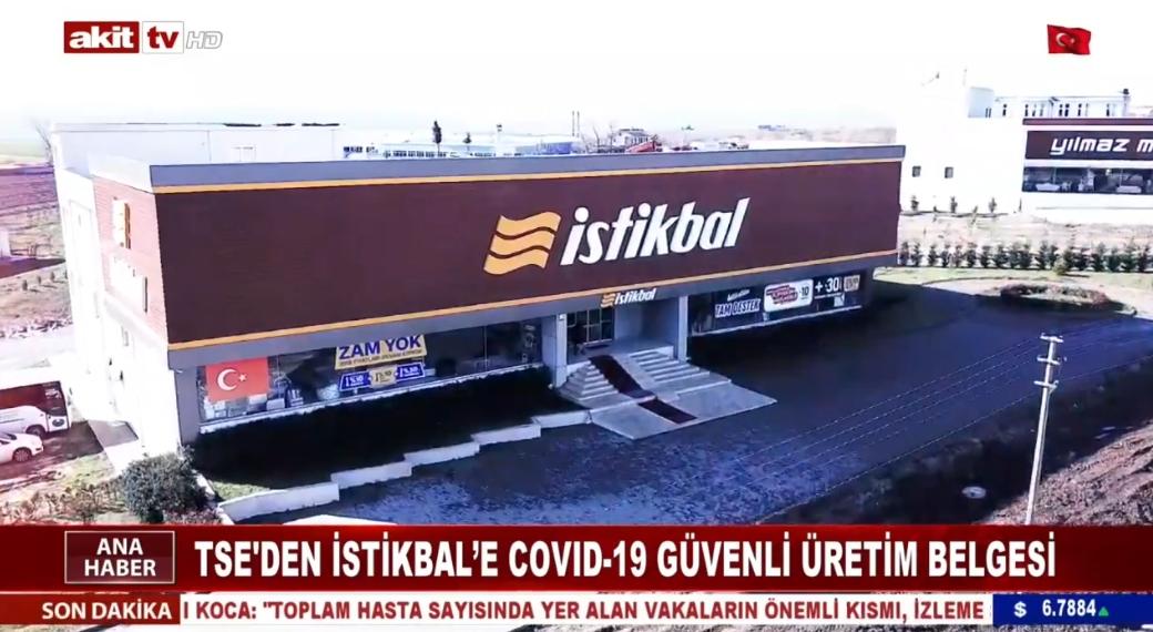 TSE'den İstikbal'e Covid-19 güvenli üretim belgesi
