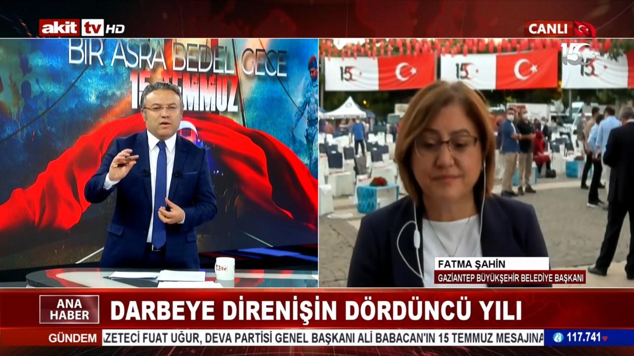 Gaziantep Büyükşehir Belediye Başkanı Fatma Şahin 15 Temmuz gecesi yaşananları anlattı