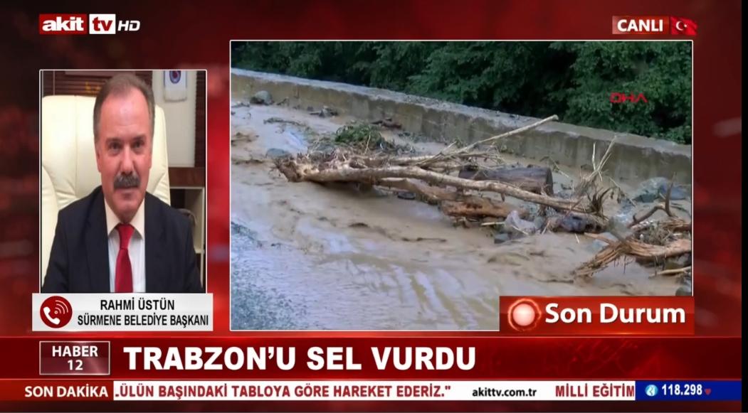 Sürmene belediye Başkanı Rahmi Üstün Trabzon'daki son durumu bildirdi