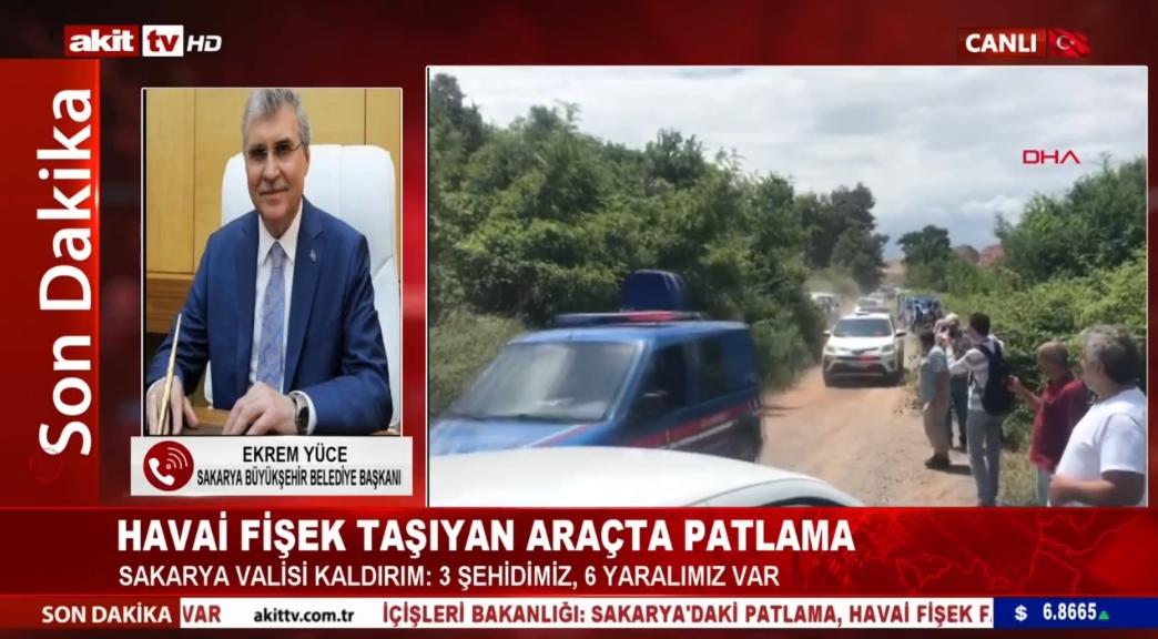 Sakarya Büyükşehir Belediye Başkanı Ekrem Yüce son durumu bildirdi