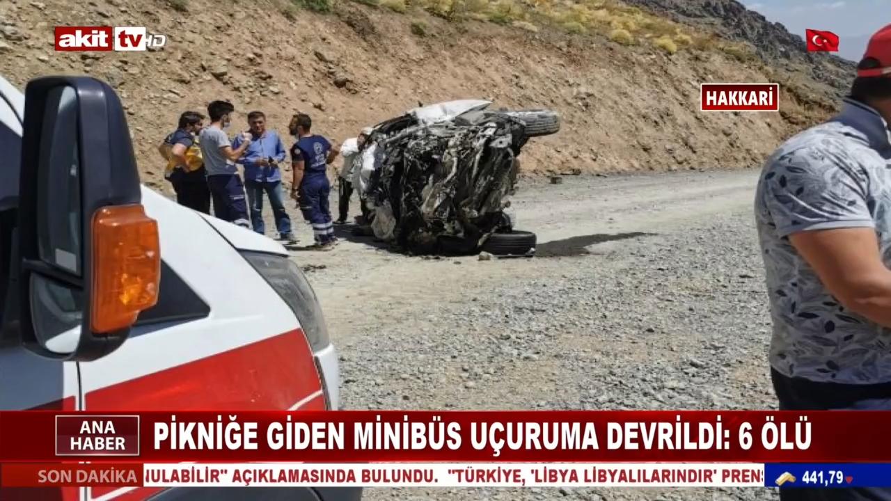 Pikniğe giden minibüs uçuruma devrildi: 6 ölü