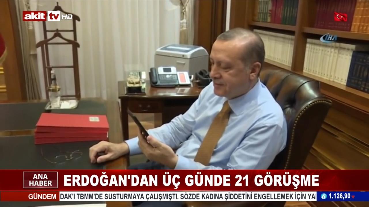 Erdoğan'dan üç günde 21 görüşme
