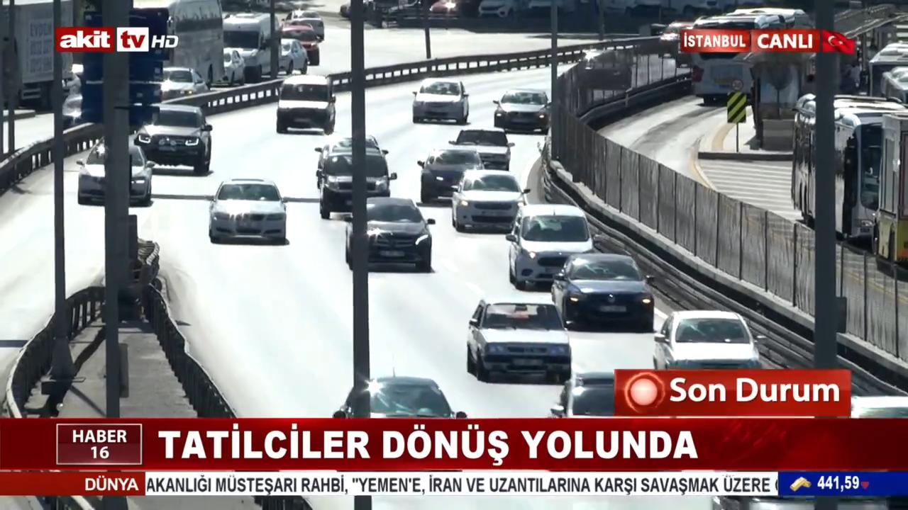 Tatilciler İstanbul'a dönmek için yollara revan oldu!