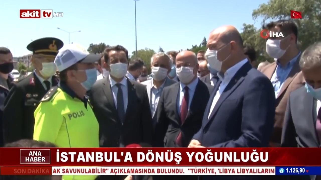 İstanbul'a dönüş yoğunluğu