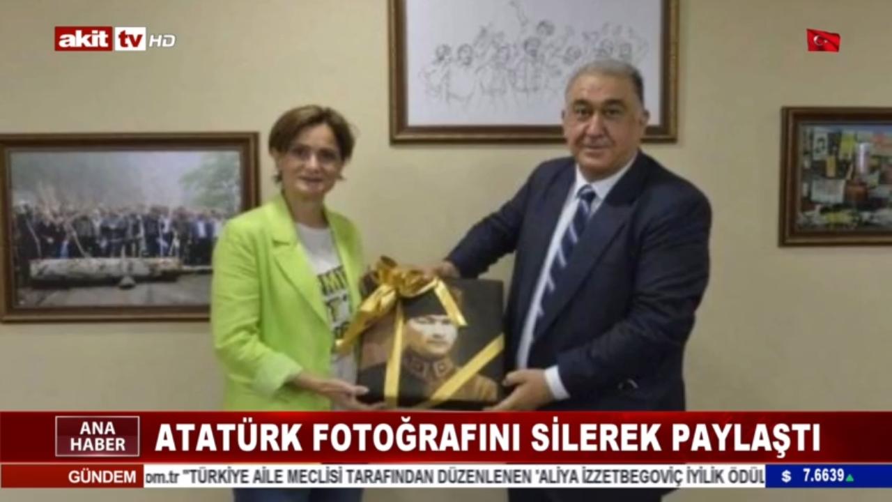 Canan Mustafa Kemal fotoğrafını silerek paylaştı