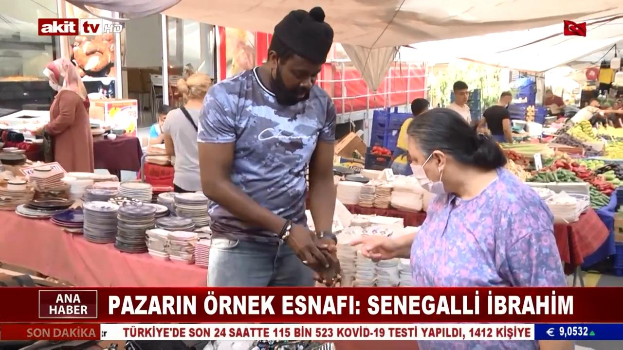 Pazarın Örnek Esnafı: Senegalli İbrahim