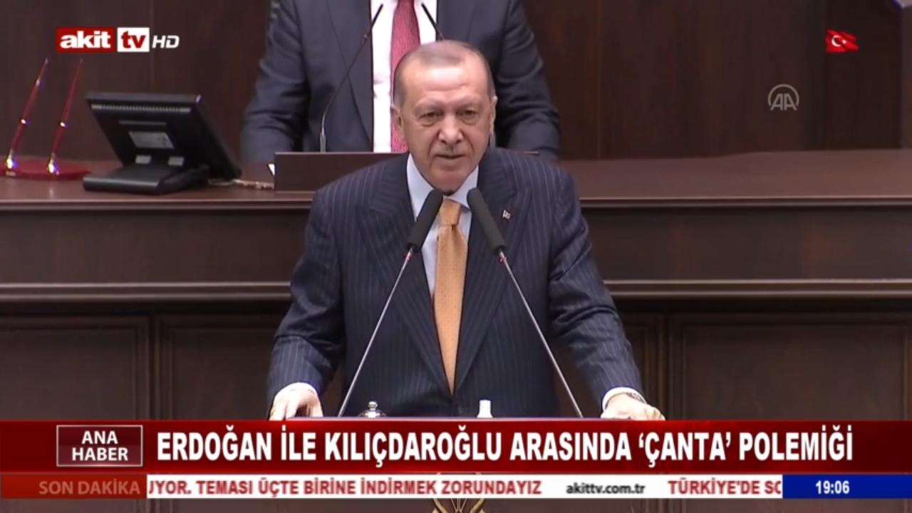 Erdoğan ile Kılıçdaroğlu arasında 'çanta' tartışması