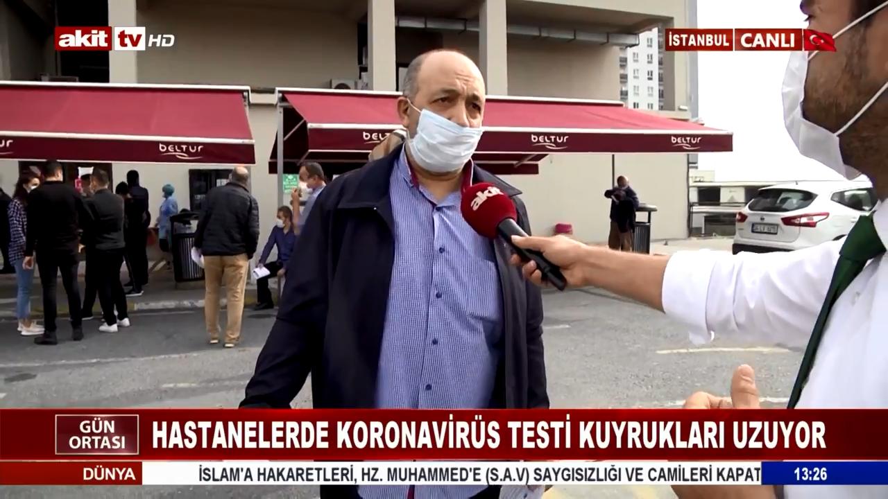 Hastanelerde Koronavirüs Testi Kuyrukları Uzuyor