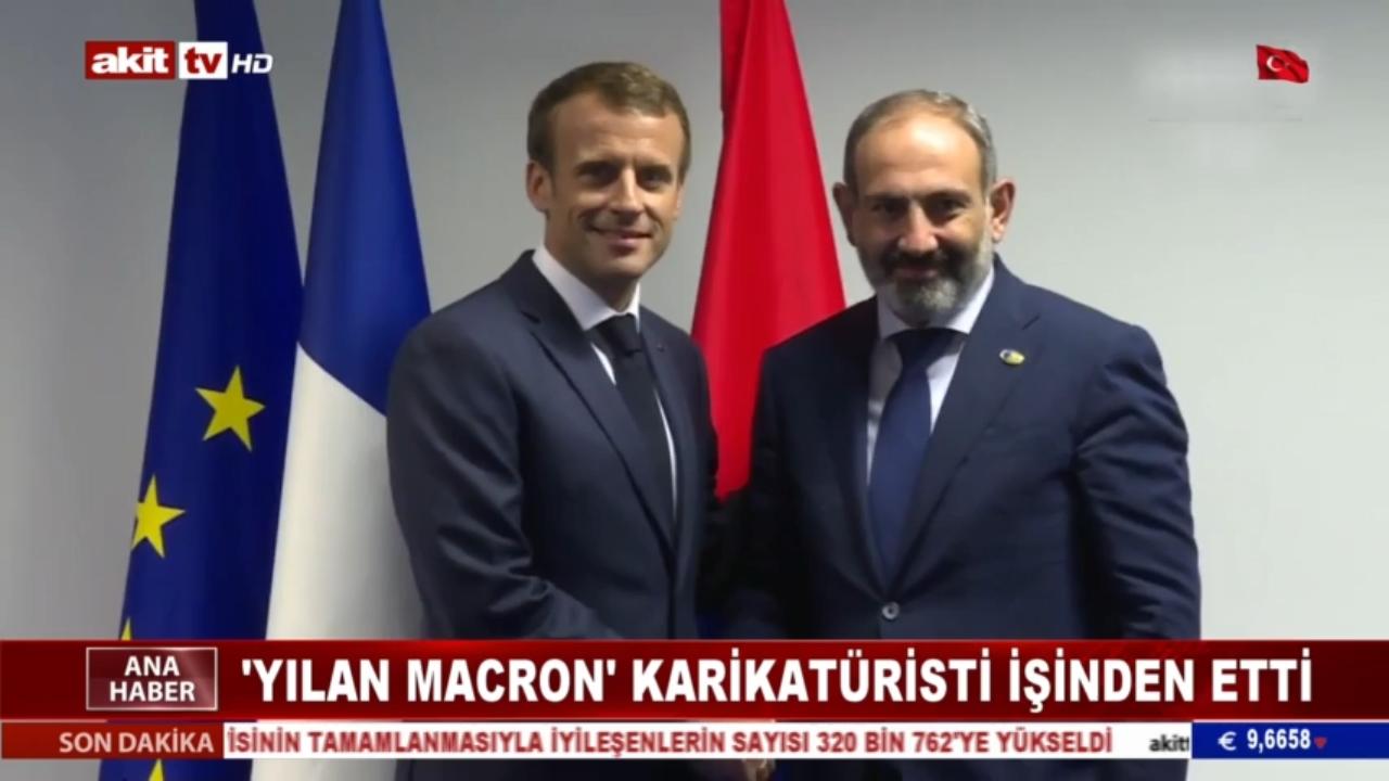 'Yılan Macron' karikatüristi işinden etti