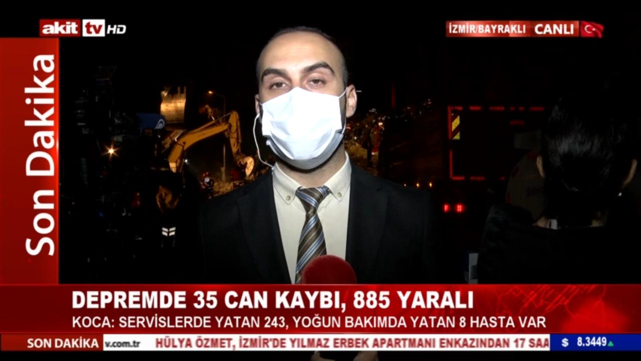 Akit TV İzmir'de deprem sonrası gelişmeleri takip ediyor