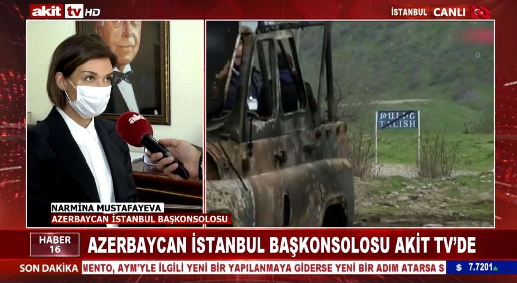Azerbaycan İstanbul Başkonsolosu Akit TV'de