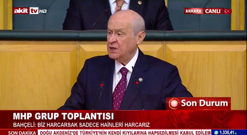 MHP Genel Başkanı Bahçeli muhalefeti topa tuttu !