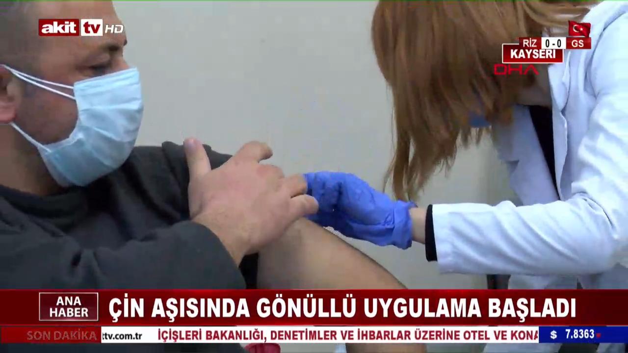 Çin aşısında gönüllü uygulama başladı