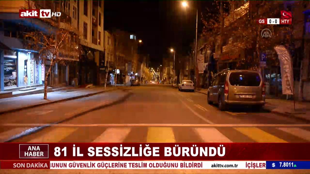 Tüm Türkiye sessizliğe büründü