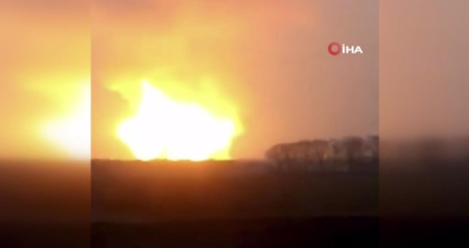 Yerleşim yerleri boşaltıldı! Ukrayna'da büyük patlama
