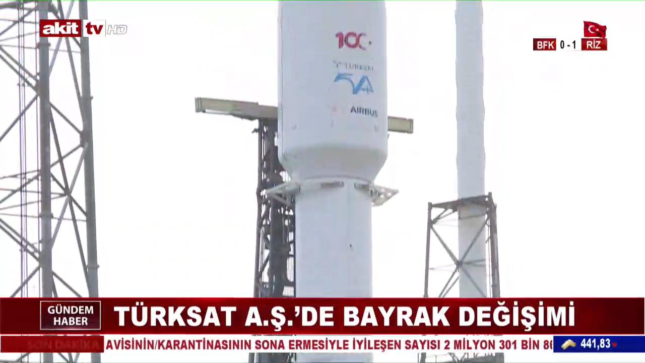Türksat'ta bayrak değişimi
