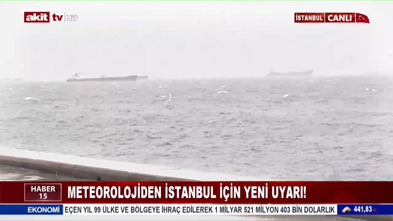 Meteorolojiden İstanbul İçin Yeni Uyarı !